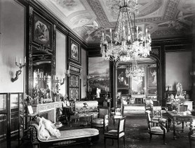 Photos de la Riviera par Jean Gilletta. - Grand salon de la villa Masséna à Nice, 1901.