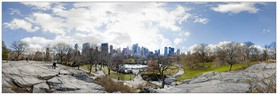 Vue panoramique de Central Park, New-York.